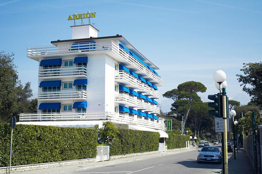 Facciata hotel Areion, hotel a Forte dei Marmi