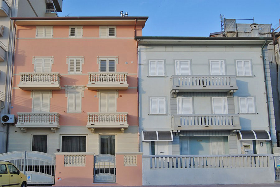 Hotel a Lido di Camaiore, facciata appartamento Hotel Capri&Residence